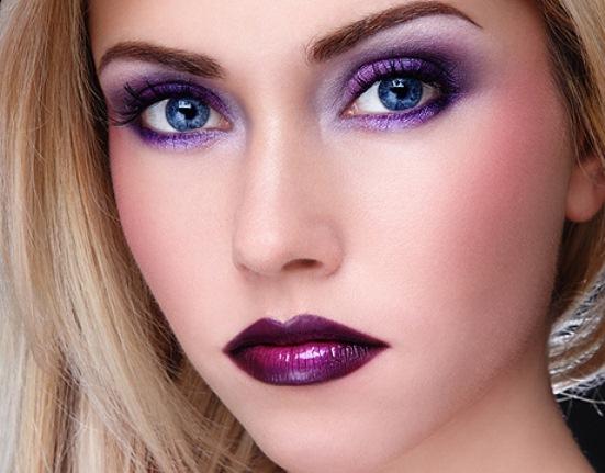 Модный весенний макияж в фиолетовых тонах