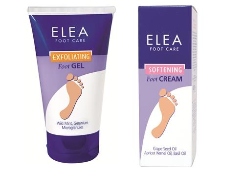 Ексфолиант гель для очистки шероховатой кожи Elea Foot Care.