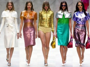 Металлик в одежде – тренд лета 2015
