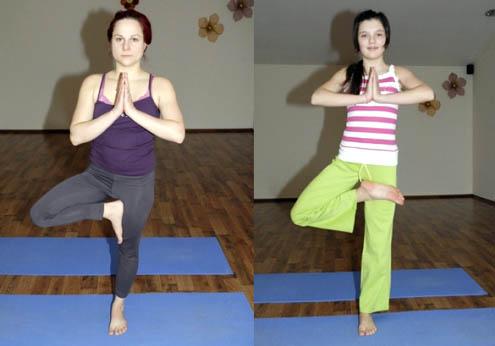 Йога упражнение номер 4 - ветка дерева