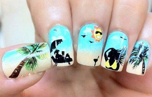 Летний маникюр для пляжного сезона