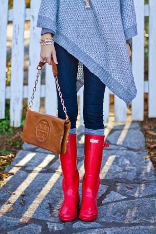 Как носить резиновые сапоги