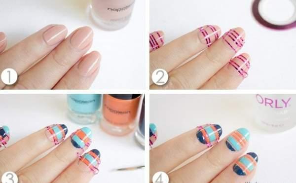 Как самостоятельно сделать маникюр с бесцветными декоративными формами
