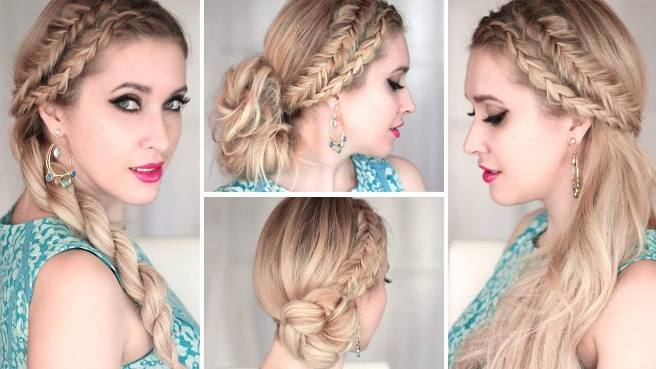 Прически на средние волосы: плетем косы