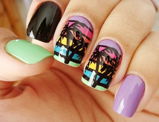 Свежие и забавные узоры для ногтей