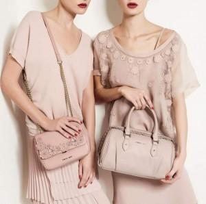 Пудровый цвет в одежде и аксессуарах, осень 2015
