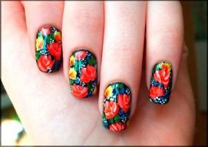 Идеи для весеннего цветочного маникюра