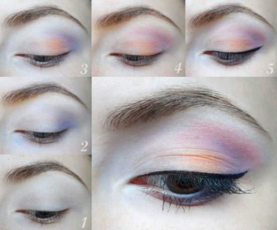 Свежая идея для весенне-летнего макияжа глаз с подводкой