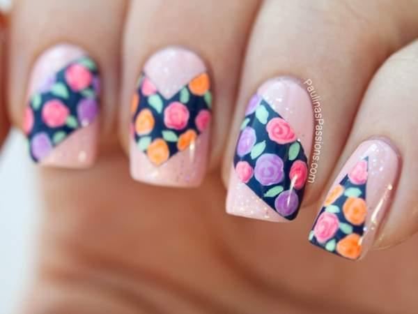 Свежие цветы, как идея для дизайна вашего весеннего маникюра
