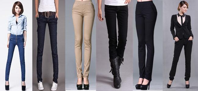 Женские узкие брюки