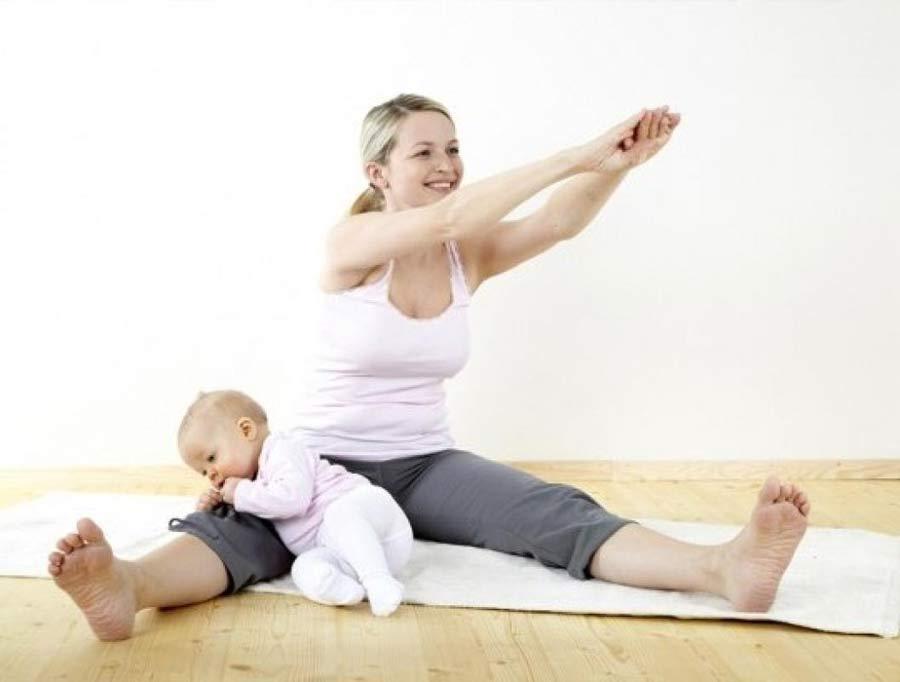 Упражнения мамам для поддержания отличной фигуры.